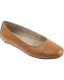 Eastland Women's Tan Gia Cap Toe Ballet Flats