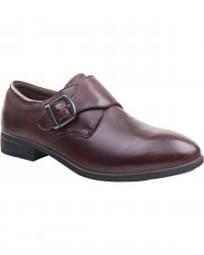 Eastland Women's Brown Farrah Monk Strap Slip-Ons