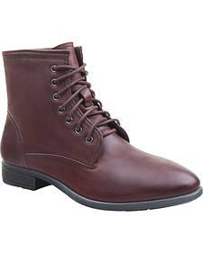 Eastland Women's Brown Juliana Plain Toe Boots