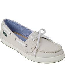 Eastland Women's Bone Skip Canvas Boat Shoe Slip-Ons