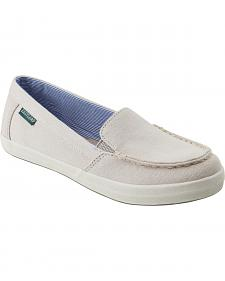 Eastland Women's Bone Canvas Lucy Slip-Ons