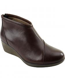 Eastland Women's Brown Arianna Wedge Booties