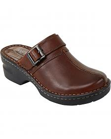 Eastland Women's Brown Mae Clogs