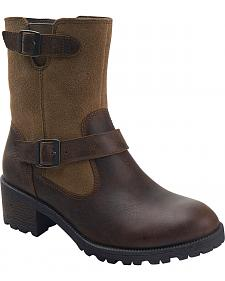 Eastland Women's Bomber Brown Suede Belmont Boots