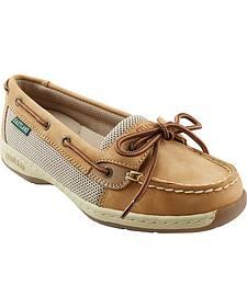 Eastland Women's Tan Sunrise Boat Shoe Slip-Ons