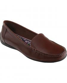 Eastland Women's Walnut Brown Crystal Slip-On Loafers