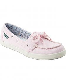 Eastland Women's Pink Canvas Skip Boat Shoe Slip-Ons