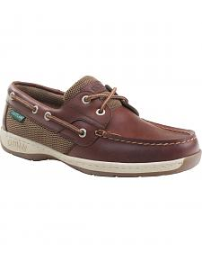 Eastland Women's Chestnut Brown Solstice Boat Shoe Oxfords