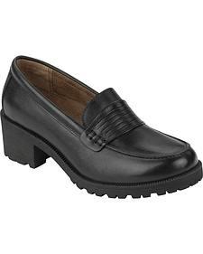 Eastland Women's Black Newbury Penny Loafers