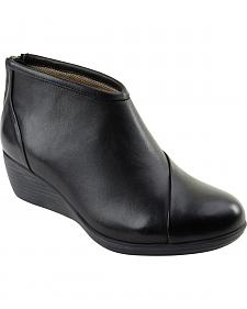 Eastland Women's Black Arianna Wedge Booties