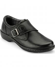 Eastland Women's Black Anna Monk Strap Slip On