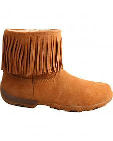 "Twisted X Women's 6"" Suede Fringe Driving Moc Boots - Round Toe"