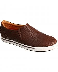 Twisted X Women's Brown Print Casual Slip-On Shoes