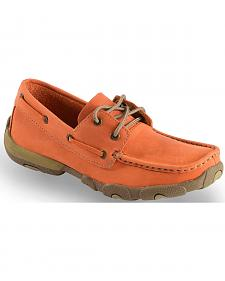 Twisted X Women's Orange Driving Mocs