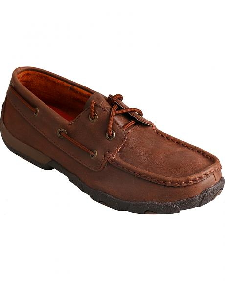 Twisted X Women's Solid Brown Driving Mocs
