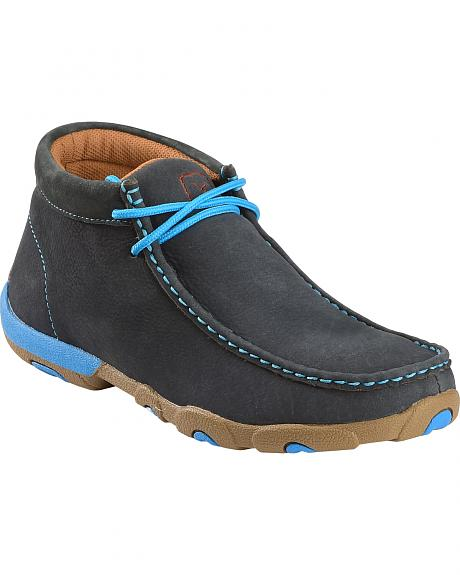 Twisted X Women's Softy Blue Lace-Up Driving Mocs