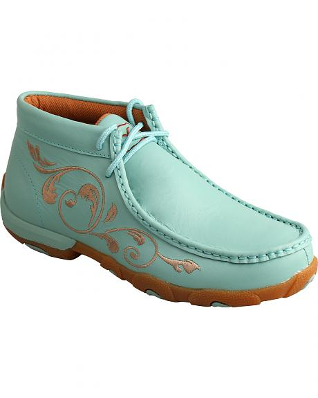 Twisted X Women's Sea Blue Lace-Up Driving Mocs