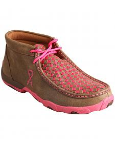 "Twisted X Women's ""Tough Enough to Wear Pink"" Driving Mocs"