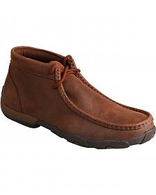 Twisted X Women's Brown Lace-Up Driving Mocs