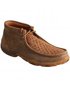 Twisted X Women's Bomber Brown & Tan Lace-Up Driving Mocs