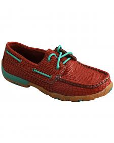 Twisted X Women's Red Print Driving Mocs