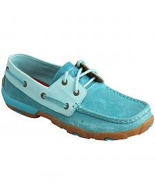 Twisted X Women's Ocean Blue Driving Mocs