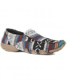 Roper Women's Multi Color Southwest Liza Driving Mocs