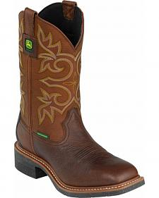 John Deere Men's Waterproof Western Work Boots - Composite Toe