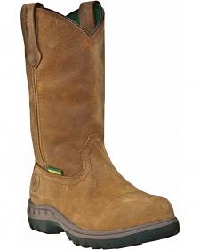 John Deere Women's Waterproof Wellington Work Boots - Round Toe