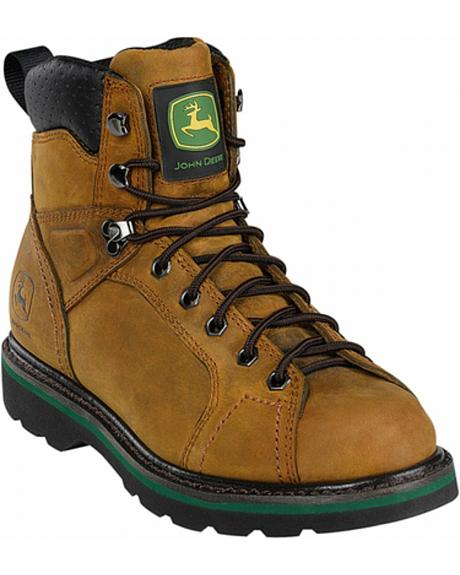 John Deere Men's Leather Lace-Up Work Boots