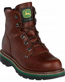 "John Deere Men's Leather 6"" Non-Slip Lace-Up Work Boots"