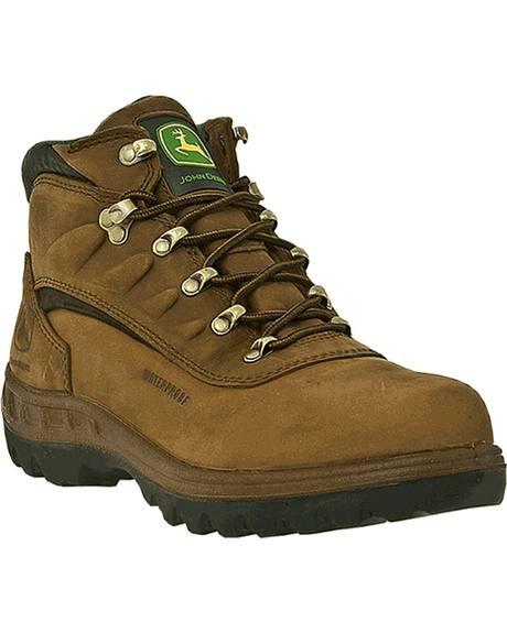 John Deere Men's Waterproof Hiker Work Boots - Steel Toe