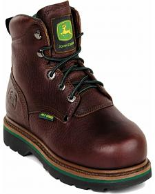 "John Deere Men's Leather 6"" EH Lace-Up Work Boots"