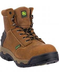 "John Deere Men's 6"" Lace-Up Work Boots - Aluminum Toe"