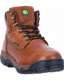 John Deere Men's Waterproof Met Guard Work Boots - Aluminum Safety Toe
