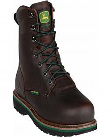 John Deere Men's Internal Met Guard Lace-Up Work Boots - Steel Toe