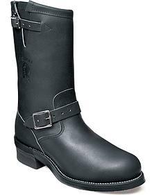 Chippewa Men's Odessa Black Engineer Boots - Steel Toe