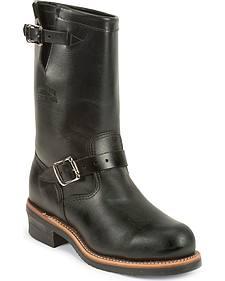 Chippewa Men's Whirlwind Black Engineer Boots - Steel Toe