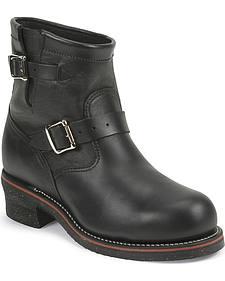 "Chippewa Men's Odessa Black 7"" Engineer Boots - Steel Toe"