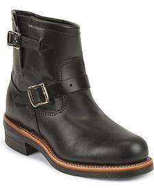"Chippewa Men's Whirlwind Black 7"" Engineer Boots - Steel Toe"