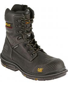 "Caterpillar Men's Fabricate Black 8"" Tough Waterproof Boots - Composite Toe"
