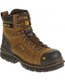 "Caterpillar Men's Hauler 6"" Waterproof Work Boots - Composite Toe"