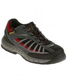 Caterpillar Men's Infrastructure Black Work Shoes - Steel Toe
