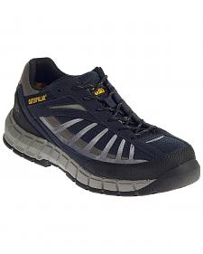 Caterpillar Men's Infrastructure Navy Work Shoes - Steel Toe