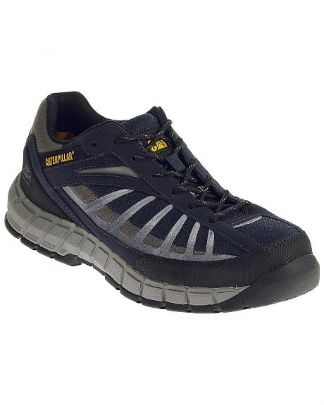Caterpillar Men's Infrastructure Navy Work Shoes - Steel Toe