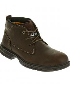 Caterpillar Men's Brown Inherit Mid Work Boots - Steel Toe