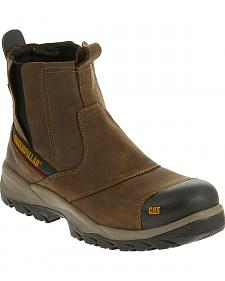 Caterpillar Men's Brown Jointer Waterproof Work Boots - Composite Toe