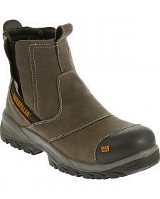 Caterpillar Men's Grey Jointer Waterproof Work Boots - Composite Toe