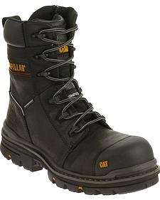 """Caterpillar Men's Mortise 8"""" Waterproof Work Boots - Composite Toe"""