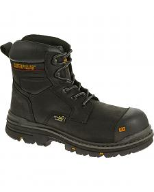 "Caterpillar Men's Brown Rasp 6"" Waterproof Work Boots - Composite Toe"